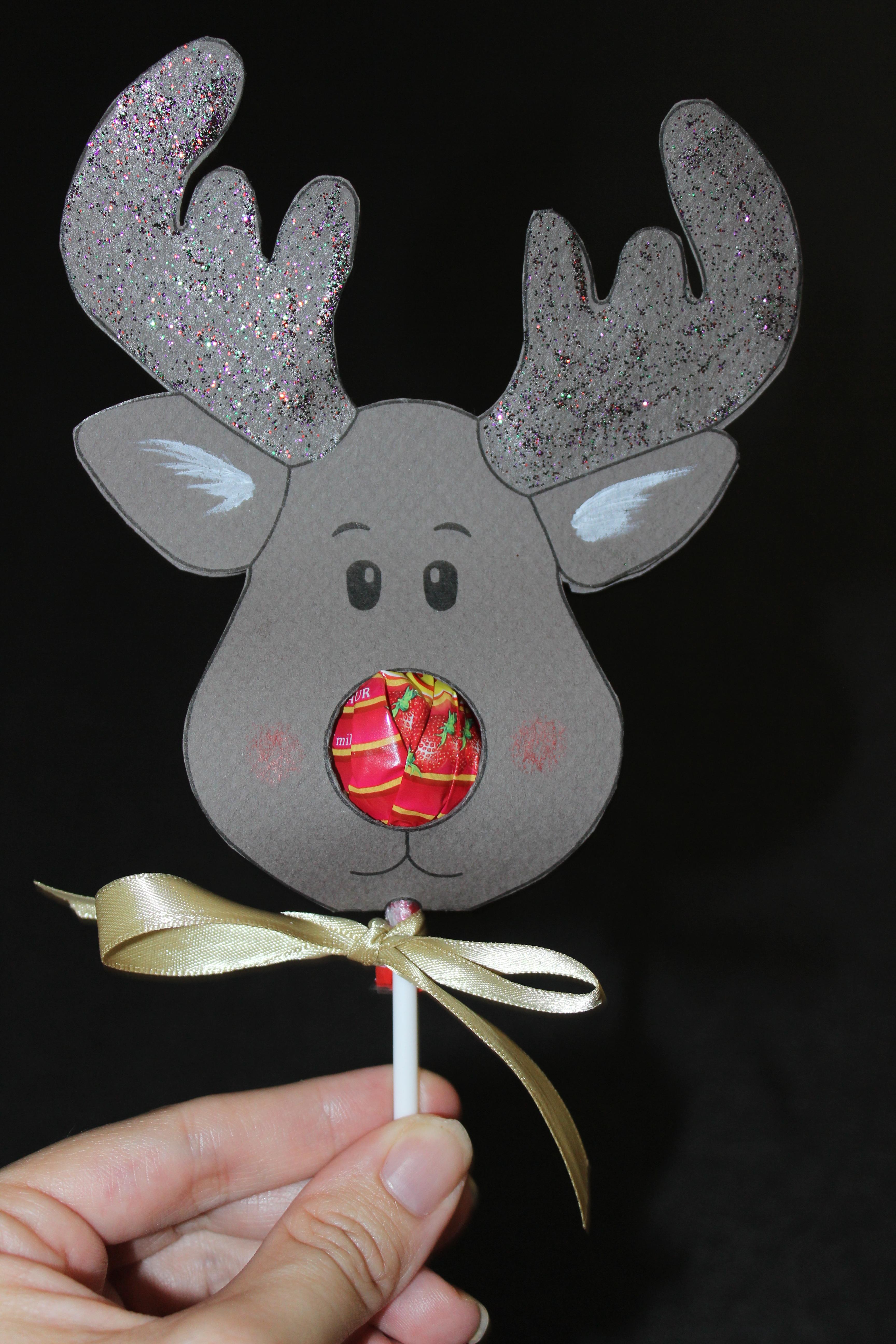reindeer lollipop card tutorial create it stitchery. Black Bedroom Furniture Sets. Home Design Ideas